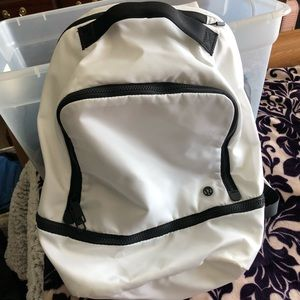 white lululemon backpack used twice